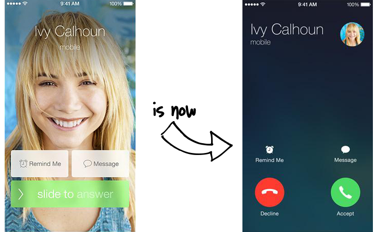 iOS Full-Screen Caller ID Change